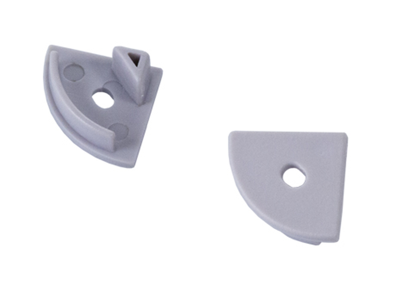 PROFILE S02 end caps with hole (set of 2 pcs)  в Москве